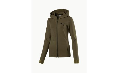 Mikina Puma Urban Sports Fz Hoody W Olive Night Zelená