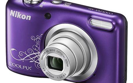 Digitální fotoaparát Nikon Coolpix A10 fialový + DOPRAVA ZDARMA