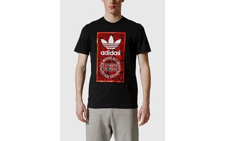 Tričko adidas Originals TONGUE LABEL 1 Černá