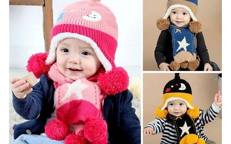 Dětský set čepice a šály Monty