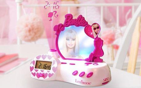 Dětský radiobudík s projektorem Barbie