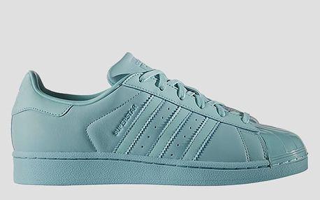 Boty adidas Originals SUPERSTAR GLOSSY TOE W Modrá