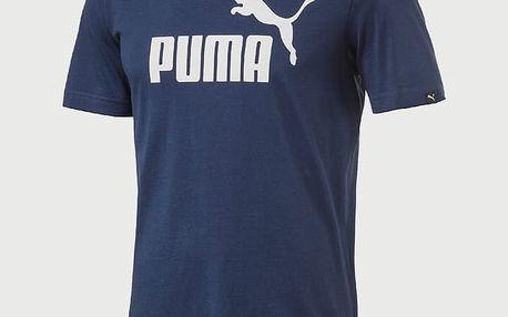Tričko Puma Ess No.1 Tee Blue Depths-White Modrá