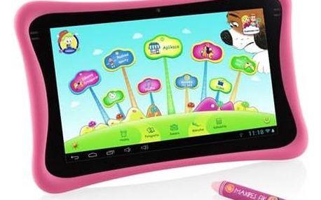 "Dotykový tablet GoGEN Maxipes Fík MAXPAD9 G4P 9"", 8 GB, WF, Android 4.4 (MAXPAD9G4P) růžový Čistící gel ColorWay CW-5151 (zdarma) + Doprava zdarma"