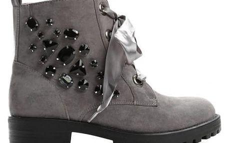 Dámské šedé kotníkové boty Brilante 1293