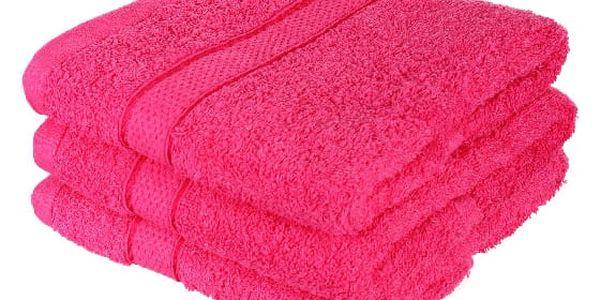 Froté ručník se vzorem Menheten vínová2