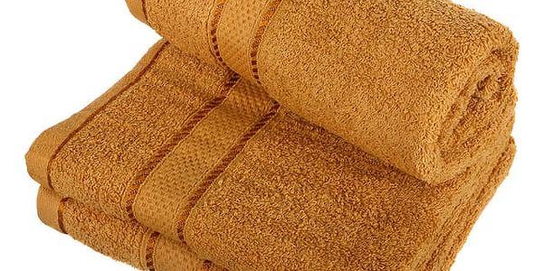 Froté ručník se vzorem Menheten vínová5