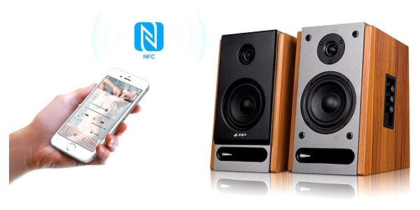 Reproduktory Fenda F&D R25BT 2.0, bluetooth, NFC (R25BT) dřevo4