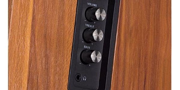 Reproduktory Fenda F&D R25BT 2.0, bluetooth, NFC (R25BT) dřevo5