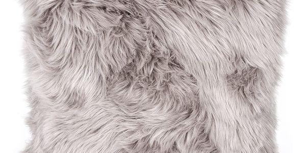 Bo-ma trading Povlak na polštářek Claire šedá, 45 x 45 cm