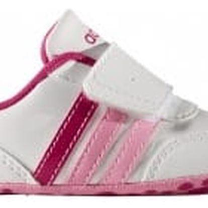 Dětské boty adidas V JOG CRIB | AW4132 | Bílá, Růžová | 20