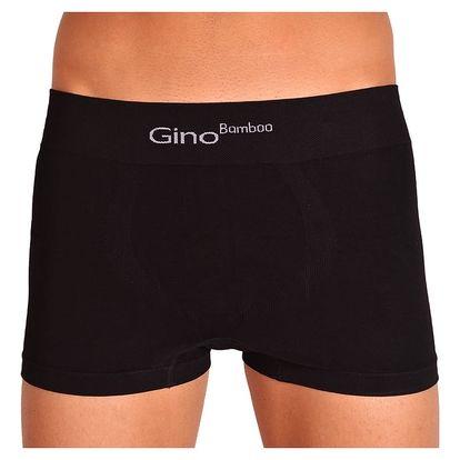 Pánské Bezešvé Boxerky Gino Bamboo Short černá M
