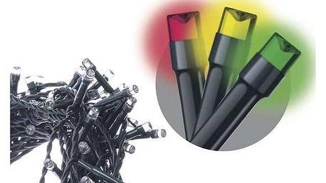 Vánoční osvětlení EMOS 50 LED, 2,5m, řetěz, multicolor (1534210030)