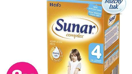 8x SUNAR Complex 4 (600 g) - kojenecké mléko