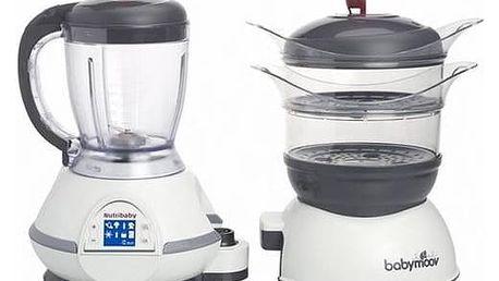 Multifunkční přístroj Babymoov NUTRIBABY, Cherry šedý/bílý + Doprava zdarma