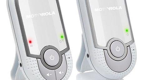 Dětská elektronická chůva Motorola MBP11 stříbrná/bílá