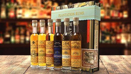 Degustační dárková kazeta se 6 rumy Plantation