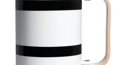 KÄHLER Keramická kávová konvice french press Omaggio Black, černá barva, keramika