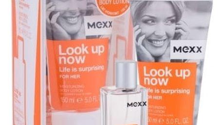 Mexx Look up Now Life Is Surprising For Her dárková kazeta pro ženy toaletní voda 30 ml + tělové mléko 150 ml