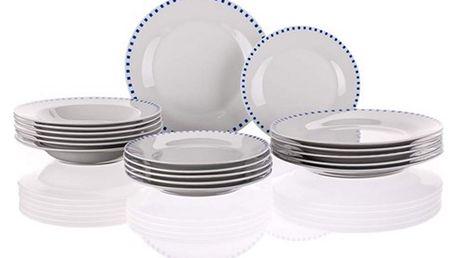 Banquet Talířová sada CUBITO BLUE OK 18 dílná