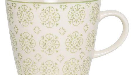 IB LAURSEN Hrneček Casablanca green, zelená barva, porcelán