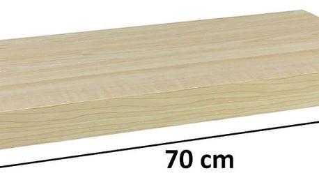 STILISTA 31061 Nástěnná police VOLATO - světlé dřevo 70 cm