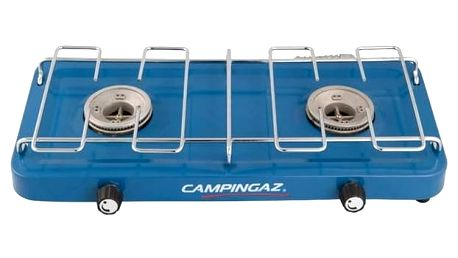 Vařič Campingaz plynový Campingaz BASE CAMP™ (dvouplotýnkový vařič na PB lahve), výkon 2x1600 W, hmotnost 1,4 kg