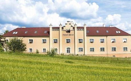 3–4denní pobyt se saunou, polopenzí a ochutnávkou vín pro 2 v hotelu Allvet*** u Brna
