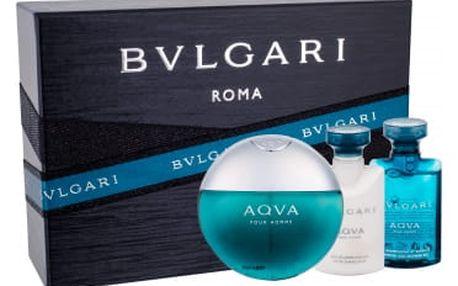 Bvlgari Aqva Pour Homme dárková kazeta pro muže toaletní voda 50 ml + sprchový gel 40 ml + balzám po holení 40 ml