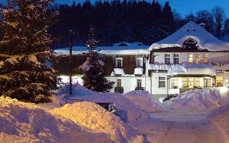 Hotel PROM v Krkonoších u Černé Hory s polopenzí a bazénem