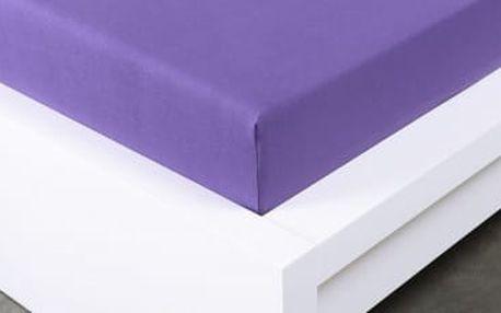 XPOSE ® Jersey prostěradlo Exclusive dvoulůžko - fialová 180x200 cm