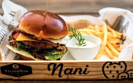 Vychytané burger menu v plzeňské restauraci