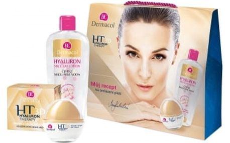 Dermacol 3D Hyaluron Therapy dárková kazeta proti vráskám pro ženy denní pleťová péče 50 ml + čisticí micelární voda 400 ml