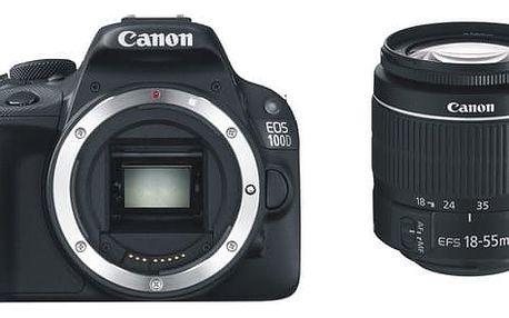 Digitální fotoaparát Canon 100D + 18-55 DC III (8576B033) + DOPRAVA ZDARMA