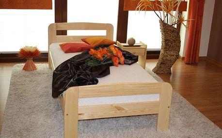 Postel z masivu Klára 90x200 borovice + rošt borovice