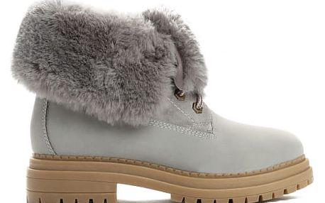 Dámské šedé kotníkové boty Lorelain 054