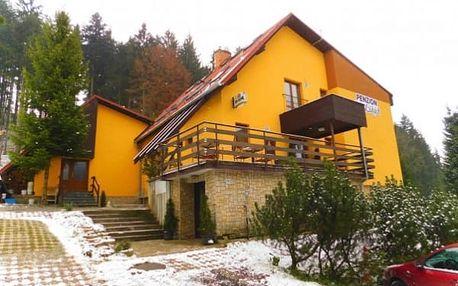 Zimní pobyt v Beskydech se slevou na skipas v penzionu Na Lůkách s polopenzí pro dva, sauna.