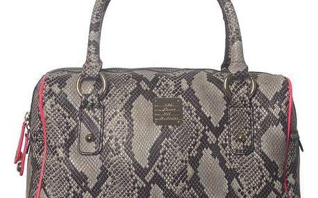Dámská kabelka Just Cavalli s hadím vzorem, hnědá