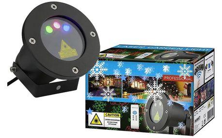 Vánoční laserový projektor - NEBESKÝ - 20 x 20 m s časovačem AT53752