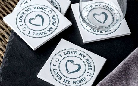 Podložky pod Hrnky I Love My Home Homania 4 kusy