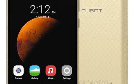 Mobilní telefon CUBOT Dinosaur Dual SIM (PH2481) zlatý + DOPRAVA ZDARMA