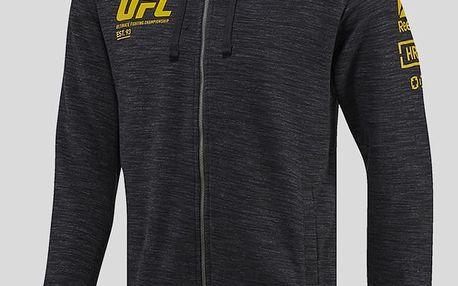 Mikina Reebok UFC FG FULL-ZIP HOODIE Černá