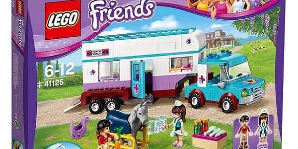 Stavebnice LEGO® FRIENDS 41125 Veterinářský přívěs s koněm + Doprava zdarma
