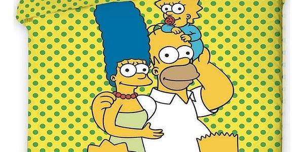 Jerry Fabrics Bavlněné povlečení The Simpsons, 140 x 200 cm, 70 x 90