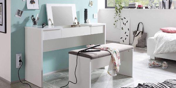 Toaletní stolek s lavicí LIPSTICK