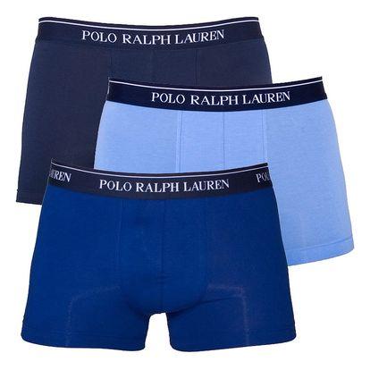 3PACK pánské boxerky Ralph Lauren modrá edice XL