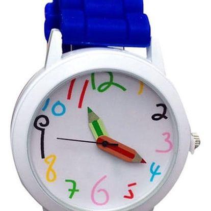 Dětské hodinky s pastelkami - 10 barev