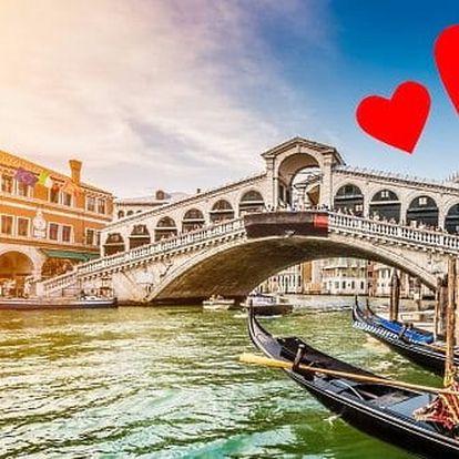 Láskyplný Valentýn v Benátkách a Veroně. 4 denní zájezd s ubytováním, průvodcem a dopravou