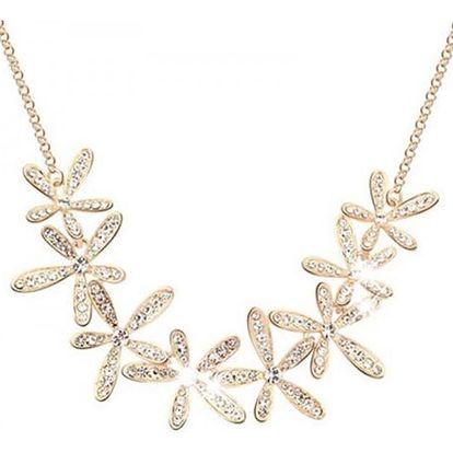 Elegantní náhrdelník s kytičkami - 2 barvy