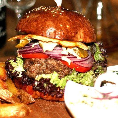 Luxusní burger menu od zkušeného šéfkuchaře